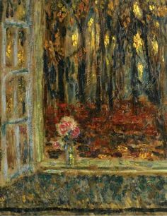 The Window in Autumn, 1916, Henri Le Sidaner. French Intimist Painter (1862 - 1939)