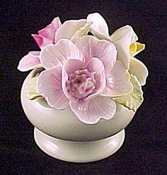 staffordshire china | Staffordshire Bone China Flower Bouquet Bowl Vintage (Image1)