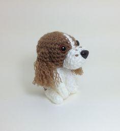 English Springer Spaniel Amigurumi Dog Handmade Crochet Puppy Stuffed Animal Plush Doll / Made to Order. $25.00, via Etsy.