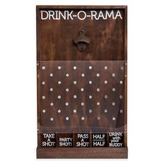 Studio Mercantile Drink-o-Rama Bottle Opener Game of Chance, Created for Macy's - Brown Plinko Game, Plinko Board, Diy Yard Games, Backyard Games, Wood Projects, Woodworking Projects, Mosaic Projects, Fun Drinking Games, Outdoor Drinking Games