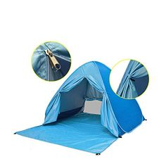Pop up Tent Automatic Outdoor Portable Beach Tent with Curtain Sun Shelters Camping Fishing Picnic Set up Blue >>> Read more  at the image link.