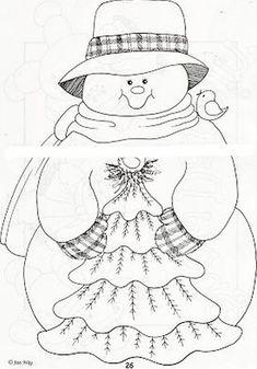 Dibujos y Plantillas para imprimir: Muñecos de Nieve Christmas Makes, Christmas Wood, Christmas Colors, Christmas Snowman, Christmas Projects, Christmas Decorations, Light Bulb Crafts, Snowman Quilt, Christmas Coloring Pages