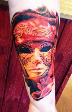 Tattoo Artist - Augis Tattoo - mask tattoo | www.worldtattoogallery.com