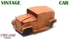 Origami Vintage Car tutorial (Akira Kawamura) 折り紙 ヴィンテージカー оригами ста...