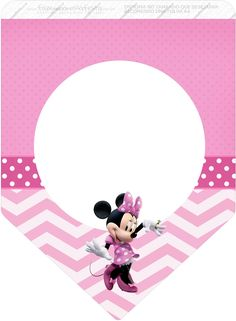 Bandera. Minnie en rosa.