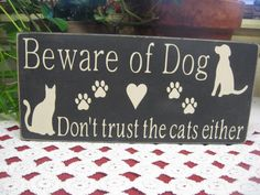 Dog Sign Beware of Dog Sign Pet Sign Pet Decor Typography Painted Wood Signs, Wooden Signs, Wooden Boards, Wooden Plaques, Primitive Wood Signs, Primitive Crafts, Primitive Christmas, Country Christmas, Christmas Christmas