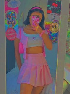 Vintage Outfits, Retro Outfits, Cute Casual Outfits, Pink Outfits, Indie Outfits, Teen Fashion Outfits, Grunge Outfits, Aesthetic Indie, Aesthetic Fashion