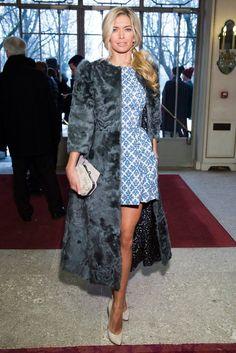 Vera Bregneva in a fur coat. Winter fashion. Russia. Russian girls. Russian beauty. Blonde.