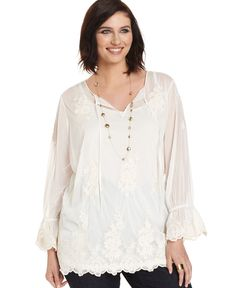 Embroidered Peasant top - love this