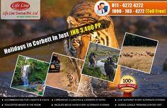 Life Line Tourism offer best deals on Corbett packages,book now. Per Person INR 3400 Only Web : http://www.lifelinetourism.com/Jim-Corbett-Tour/