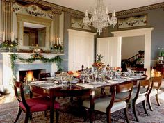 Our Colonial Christmas Dining Room