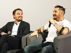 Star Tracks: Monday, December 7, 2015 | THE HUNKY BUNCH  | Leonardo DiCaprio and Tom Hardy discuss their film The Revenant at a BAFTA screening in London on Sunday.