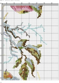 -Зимний каприз. Cross Stitch Fruit, Cross Stitch Flowers, Cross Stitch Patterns, Embroidery, Projects, Handmade, Crafts, Florals, Cross Stitch Pictures