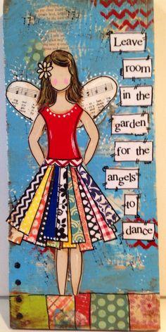 55 x 12 mixte Ange signe d'ange Laisser la par heartfeltByRobin
