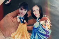Disney princess paper puppet