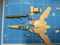Robotech Macross / Valkyrie VF-1S model - step 01