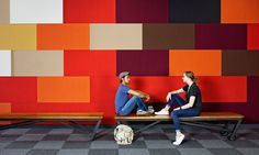 Color blocking and custom movable benches | 395 Page Mill First Floor | O+A
