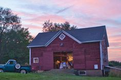 Classic red barn is the place for parties - you have to see the inside eclecticallyvintage.com