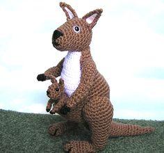 PDF Crochet Pattern KANGAROO and  BABY. $6.00, via Etsy.