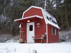 Barn shaped, hunting cabin!...Lets see some deer camp photos - The Michigan Sportsman Forums