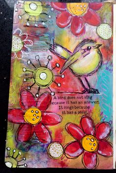 DT post for a sprinkle of imagination  Art journal page