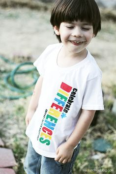 Make a t-shirt celebrating differences for Autism Awareness Month | A Tried & True Project