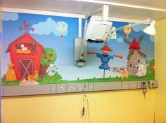 Kids - Hospital Bathroom Wallpaper Mural Bathroom Wallpaper Murals, Wall Murals, Kids Hospital, Elmo, Farm Animals, 2nd Birthday, Bedroom, Murals, Wallpaper Murals