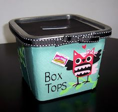 Box tops... don't need this yet but how cute...