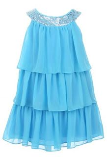 One Year Old Birthday Party Dresses Sweet Kids Girls Triple Tiered Chiffon Flirty Dress