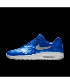 sale retailer 477c9 fcade Nike Air Max 1 Hyp Id Bright Blue White Grey Mens Shoes Outlet
