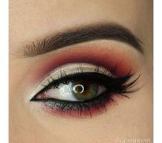 "Makeup geek~ ""catching fire"" look"