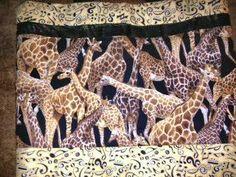 giraffes & music handmade totebag OC High School of the Arts OShop