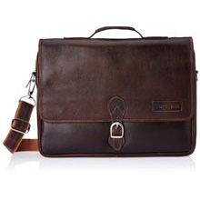 Tortoise Leather Dark Brown Messeger Bag