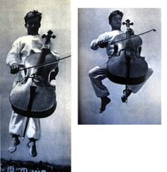 French musician Maurice Baquet combined cello playing with an acrobatics routine. Images from VU magazine, 1938 Robert Doisneau, Fine Art Photo, Photo Art, Cellos, Portrait, Orchestra, Batman, French, Superhero