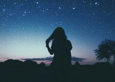 Imagem de girl, night, and sky