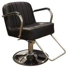 The Churchill Oversized Styling Chair in Black is our widest styling chair to date, and will accommodate clients of all shapes and sizes. Salon Styling Chairs, Salon Chairs, Minerva Beauty, Home Salon, Barber Chair, Churchill, Chair Cushions, Foot Rest, Salons