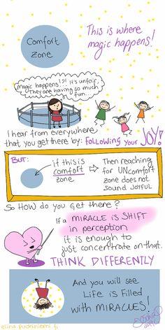 Palasia sateenkaaresta: Comfort Zone vs. Following Your Joy