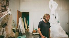 Artist Alrik Yuill spends countless hours working on sculptures and surfboards in his Costa Mesa studio. Click this image to hear him break down the connection between artistic disciplines.