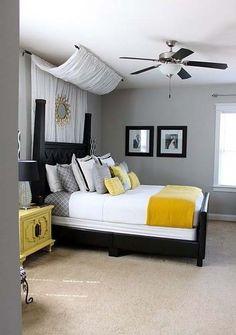 love this idea for bedroom decor