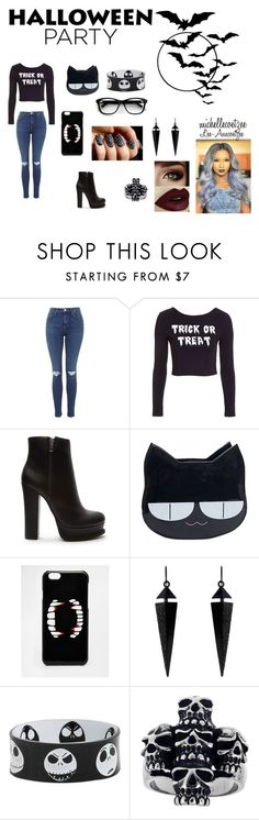 """""""Halloween Party"""" by michellecoetzee on Polyvore featuring Topshop, Forever 21, ASOS and Oasis"""
