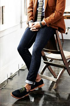 These jeans are a little tight but I love the navy suede oxfords! #mens #style