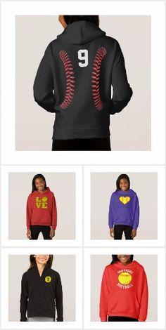 Girls Softball Sweatshirts Custom Collection #girls #softball #hoodie #sweatshirt