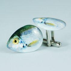 Gone Fishing Cufflinks Style No. 10  SHAD Design by Cufflinked