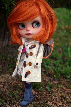 Blythe, custom blythe, caracterización blythe, winter, invierno, doll clothing, ropa de muñeca