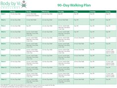 Body by Vi 90 Day Walking Plan