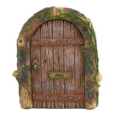 Hang this cute fairy door on any tree to turn it into an enchanted fairy house!