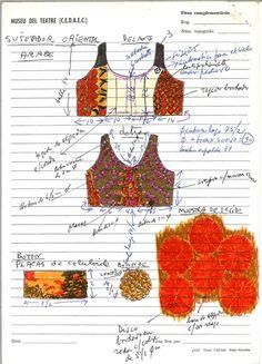Cosset de Tórtola Valencia a Danza del incienso Data 1911 - 1930 ca.  MAE: I 366 Registre 252975 Tipologia: Col·lecció Indumentària Escena Digital: http://colleccions.cdmae.cat/catalog/bdam:252975