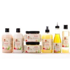 Natural organic coconut shampoo. Lemon grass leave in conditioner. Avacado cream moisturizer. & much more. All natural & organic hair products