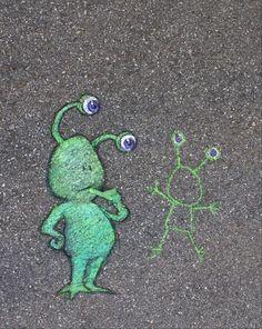 Distorsion Urbana: Sluggo, un alien de tiza.