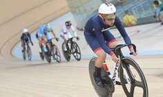 Britain's Laura Trott on her way to winning the omnium gold medal at Rio on 16…